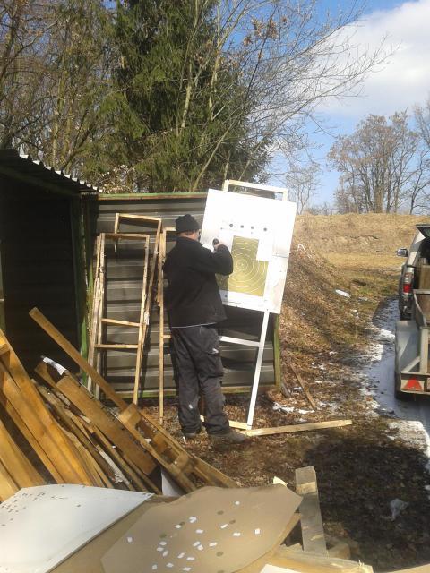 Práce na střelnici - březen 2013
